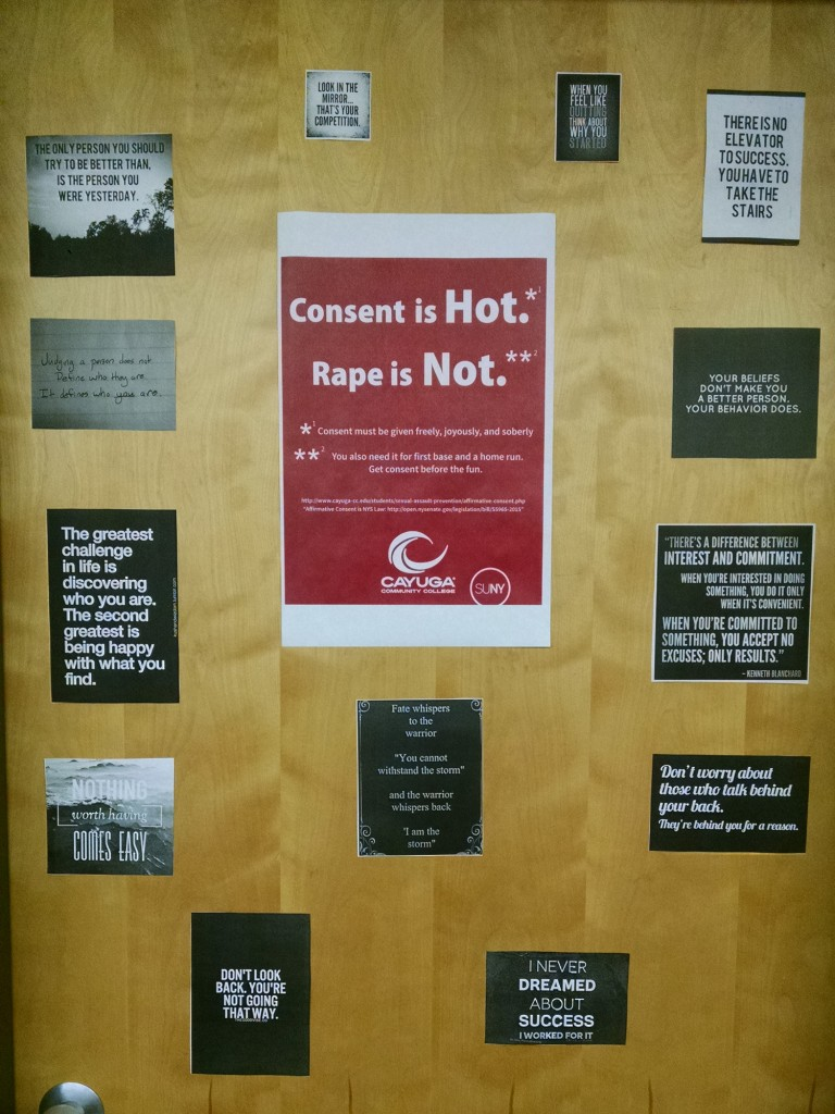 consent poster and inspirational phrases