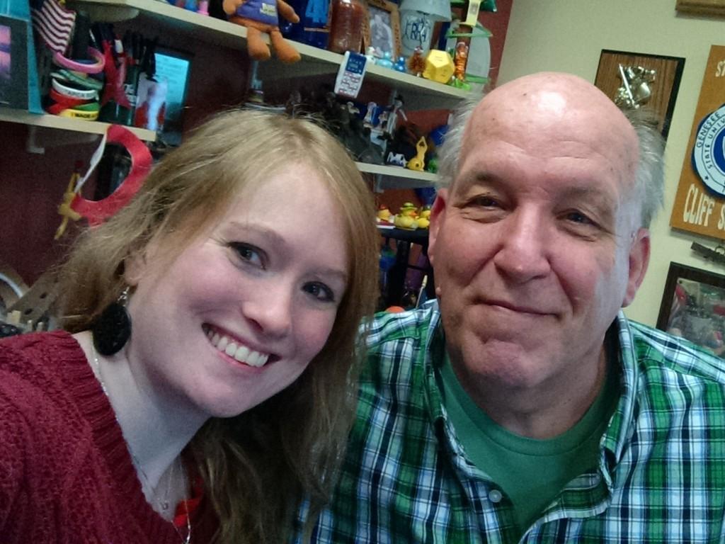 Christina Irene and Cliff Scutella at Genesee Community College in Batavia, NY