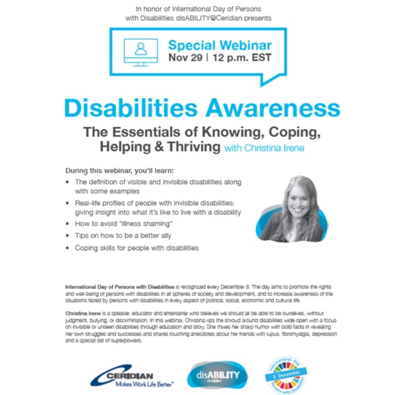 Dealing With Invisible Learning >> Disability Awareness Speaker Christina Irene Christina Irene