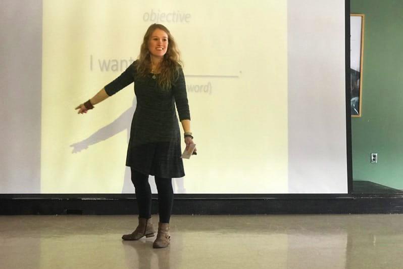 Christina presenting a professional development workshop at Herkimer College in New York